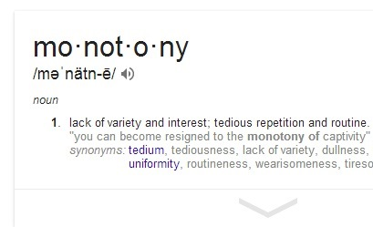 monotony definition